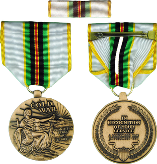 Cold War Service Medal Badge Ribbon
