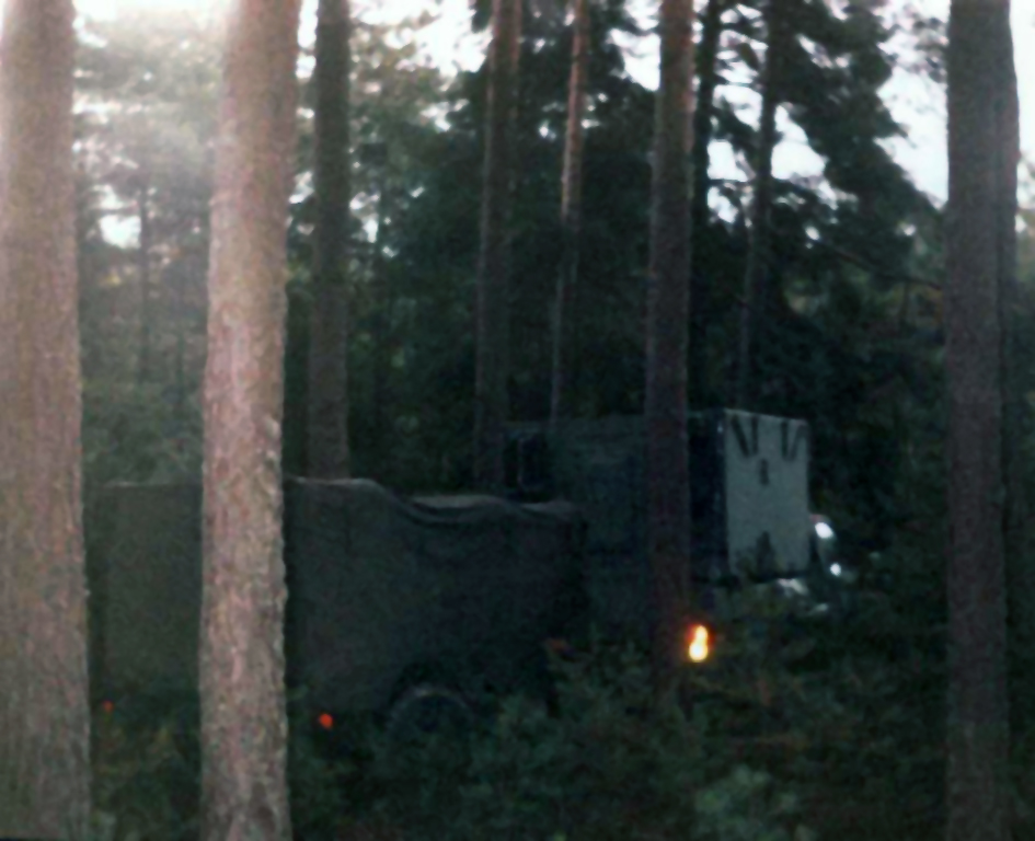 Army Radio Teletype RATT RIG in Forest During Cold War